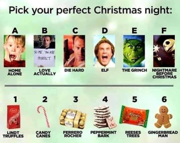 Pick your perfect Christmas night