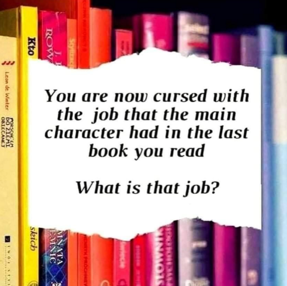 Same job as the character in your book